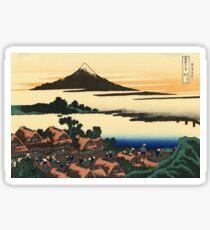 'Dawn at Isawa in the Kai Province' by Katsushika Hokusai (Reproduction) Sticker