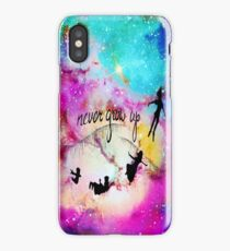 Never Grow Up Peter Pan Nebula iPhone Case/Skin