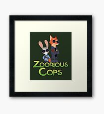 Zoorious Cops (Serious Cops) Framed Print