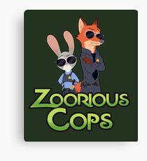 Zoorious Cops (Serious Cops) Canvas Print