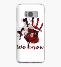 Dark Brotherhood Handprint Samsung Galaxy Case/Skin