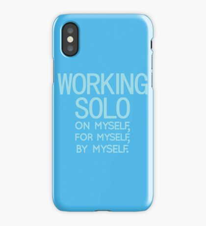 Working Solo iPhone Case