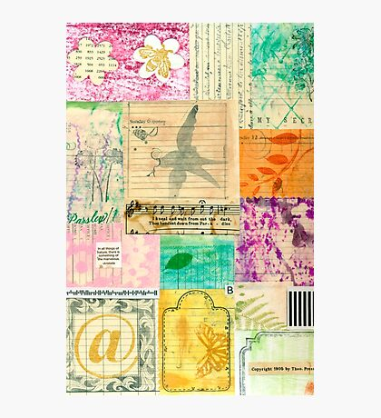 My Secret - Paper Collage Photographic Print