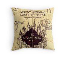 The Marauders Map Throw Pillow