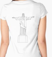Cristo Redentor Women's Fitted Scoop T-Shirt