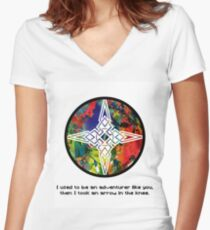 Took an Arrow in the Knee - Dawnstar Version Women's Fitted V-Neck T-Shirt