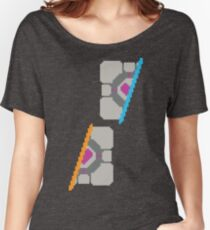 Pixel Companion Cube Women's Relaxed Fit T-Shirt