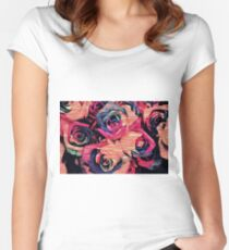 Veneer Roses Women's Fitted Scoop T-Shirt