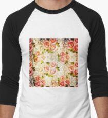 Vintage patterns Men's Baseball ¾ T-Shirt