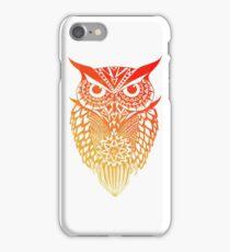 Owl orange gradient iPhone Case/Skin