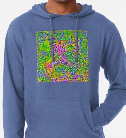 Artificial neural style Flower cat Lightweight Hoodie