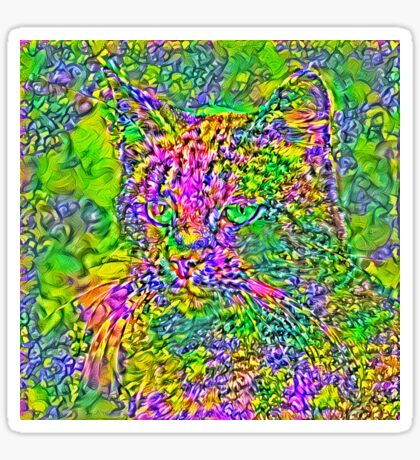 Artificial neural style Flower cat Sticker