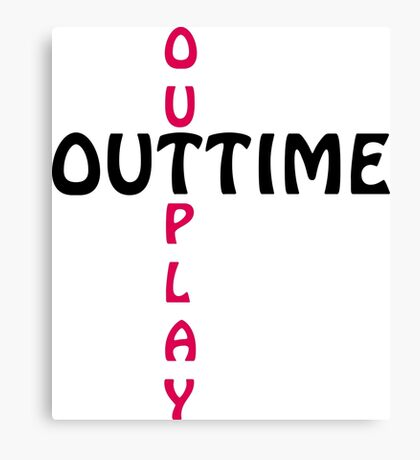 outtime / outplay Canvas Print