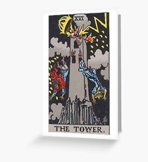 Tarot Card - The Tower Greeting Card