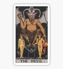 Tarot Card - The Devil  Sticker