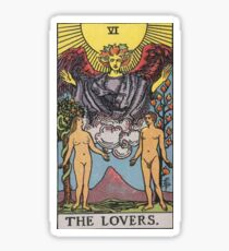 Tarot Card - The Lovers Sticker