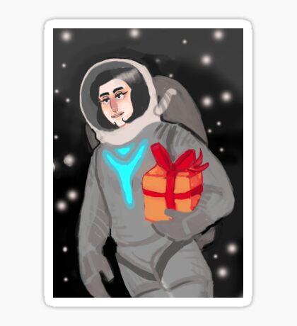 Space Birthday Sticker