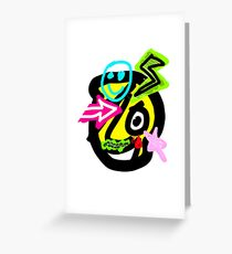 The Dude with signs Greeting Card