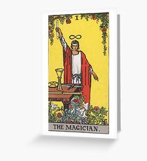 Tarot Card - The Magician Greeting Card