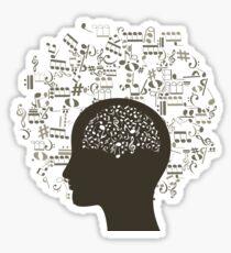 Music brain Sticker