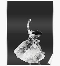 Schwarze Ballerina Poster