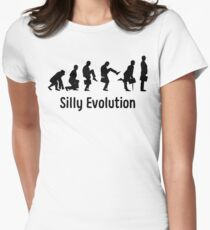 Python Silly Walk Evolution T Shirt Womens Fitted T-Shirt