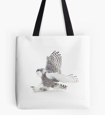 Snowy Owl catching prey Tote Bag