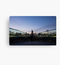 Even the Clouds Aligned with St Paul's Cathedral and the Millennium Bridge in London, UK Canvas Print