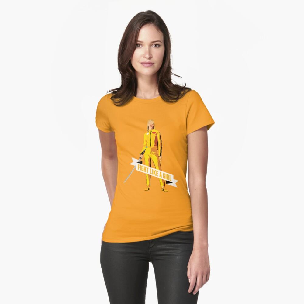Kämpfe wie ein Mädchen: Beatrix Kiddo Tailliertes T-Shirt