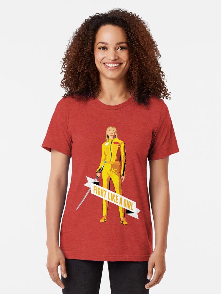 Alternative Ansicht von Kämpfe wie ein Mädchen: Beatrix Kiddo Vintage T-Shirt