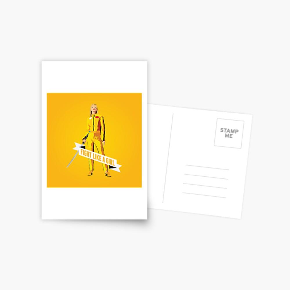 Kämpfe wie ein Mädchen: Beatrix Kiddo Postkarte