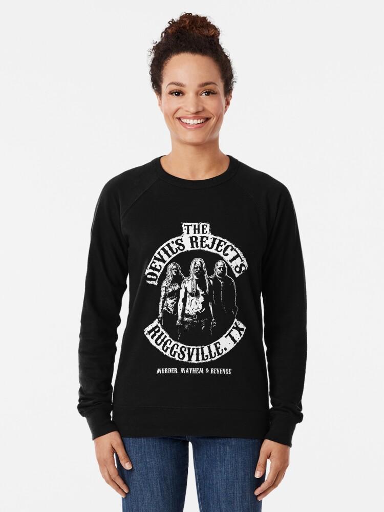 Alternate view of Devils Rejects, Ruggsvile, TX Lightweight Sweatshirt