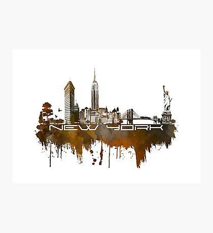 New York skyline brown Photographic Print