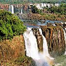 Iguacu waterfalls - Brazilian side by Arie Koene