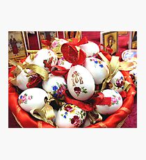 Still-life with wonderful Easter Eggs    Photographic Print
