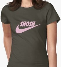 Sporty Shosh Pink Womens Fitted T-Shirt