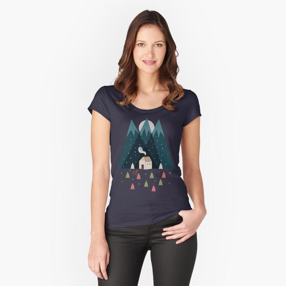 Winterwurm Tailliertes Rundhals-Shirt