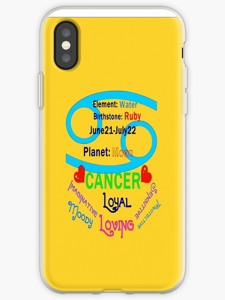 ▒★Star Sign-Cancer iPhone & iPod Case★▒ by Fantabulous