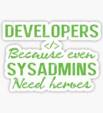 Developers hero Sticker