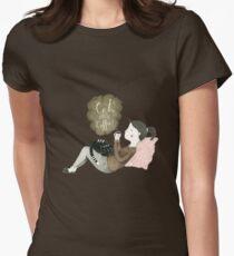 Cats and Coffee Tailliertes T-Shirt für Frauen