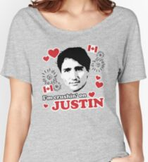 I'm Crushin' on Justin Trudeau Women's Relaxed Fit T-Shirt
