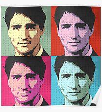 Justin Trudeau Pop Art Poster