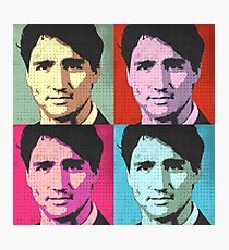 Justin Trudeau Pop Art Photographic Print