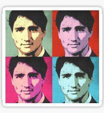 Justin Trudeau Pop Art Sticker