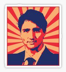 Justin Trudeau Propaganda Art Sticker