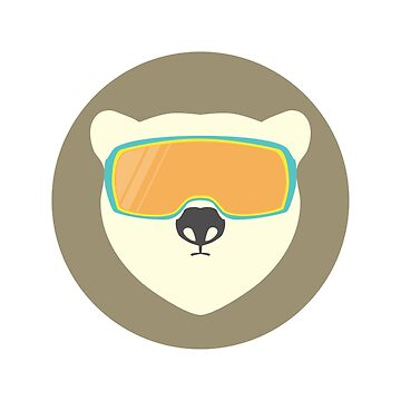 Polar bear with ski mask. by Anviczo