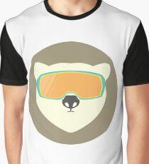 Polar bear with ski mask. Graphic T-Shirt