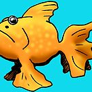 Cartoon-Style Goldfish by William Fehr