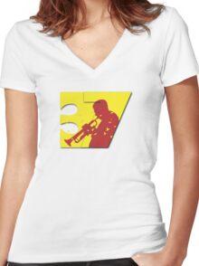 37B Women's Fitted V-Neck T-Shirt