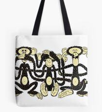 The Wise Monkeys Tote Bag